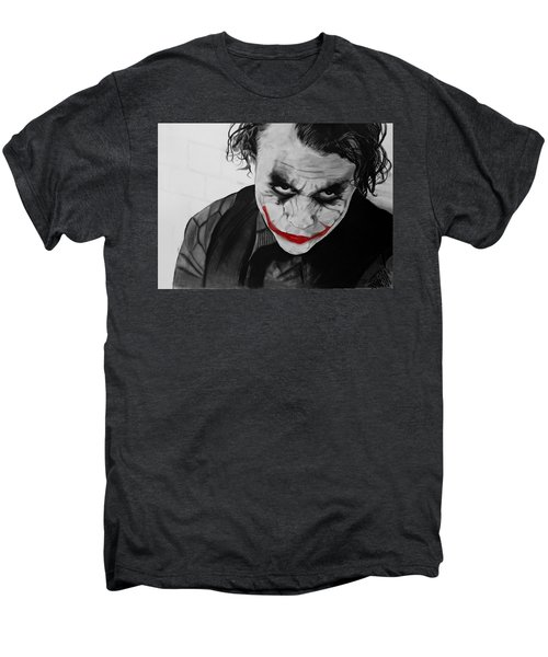 The Joker Men's Premium T-Shirt by Robert Bateman