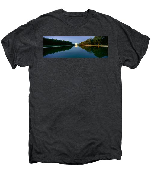 The Lincoln Memorial At Sunrise Men's Premium T-Shirt by Panoramic Images