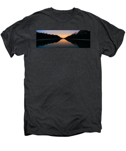 The Lincoln Memorial At Sunset Men's Premium T-Shirt by Panoramic Images