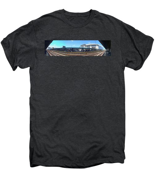 The Old And New Yankee Stadiums Panorama Men's Premium T-Shirt