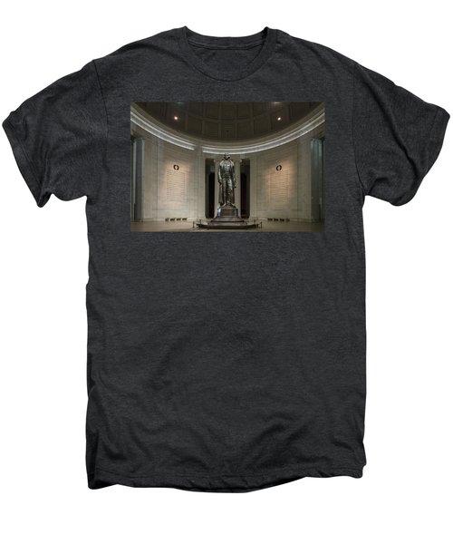 Men's Premium T-Shirt featuring the photograph Thomas Jefferson Memorial At Night by Sebastian Musial