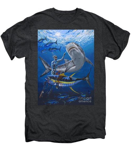 Tiger Encounter Men's Premium T-Shirt by Carey Chen