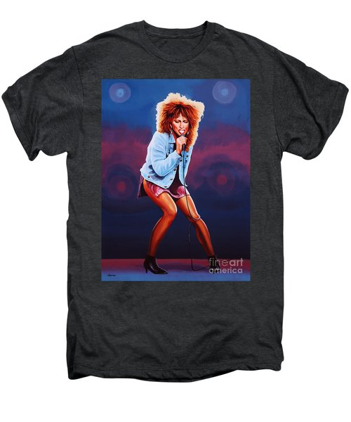 Tina Turner Men's Premium T-Shirt by Paul Meijering
