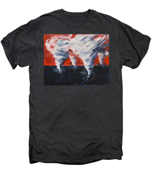Men's Premium T-Shirt featuring the painting Apocalyptic Dream by Yulia Kazansky