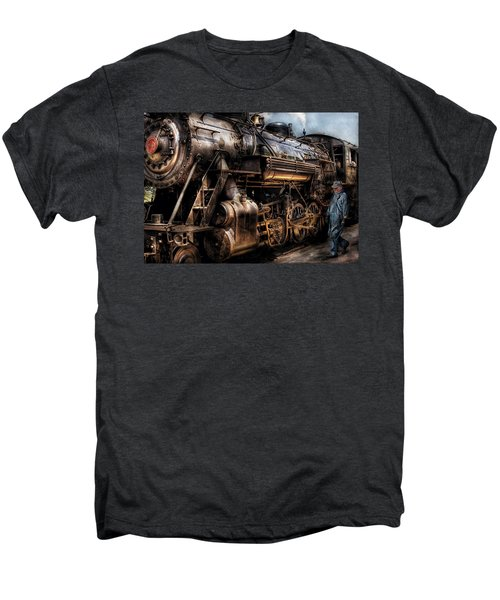 Train - Engine -  Now Boarding Men's Premium T-Shirt