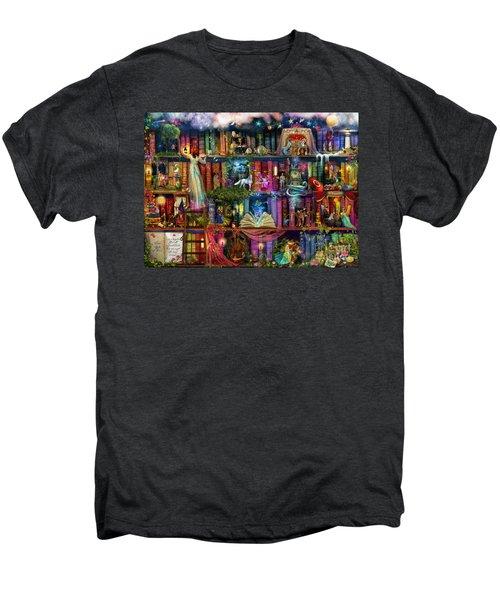 Fairytale Treasure Hunt Book Shelf Men's Premium T-Shirt
