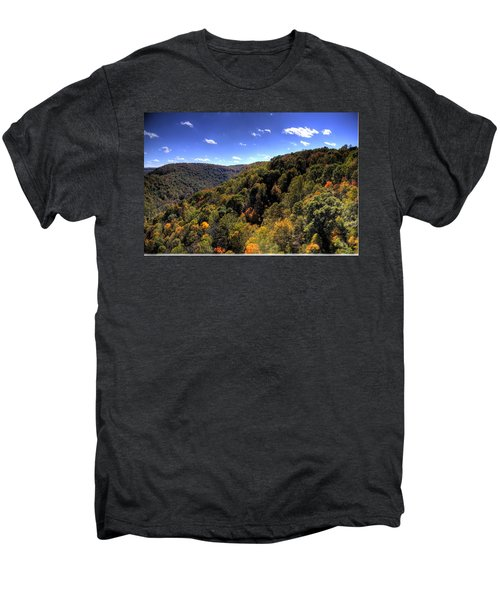 Men's Premium T-Shirt featuring the photograph Trees Over Rolling Hills by Jonny D