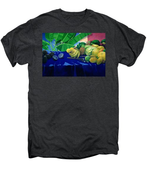 Tropical Fruit Men's Premium T-Shirt by Lincoln Seligman