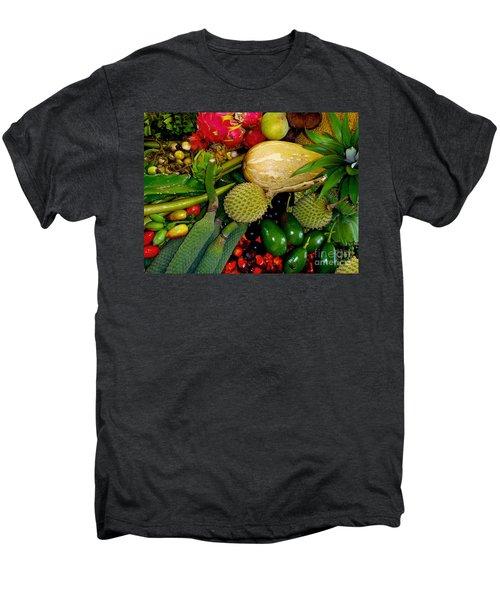 Tropical Fruits Men's Premium T-Shirt by Carey Chen