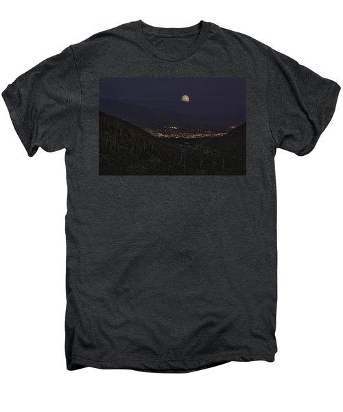 Tucson At Dusk Men's Premium T-Shirt by Lynn Geoffroy
