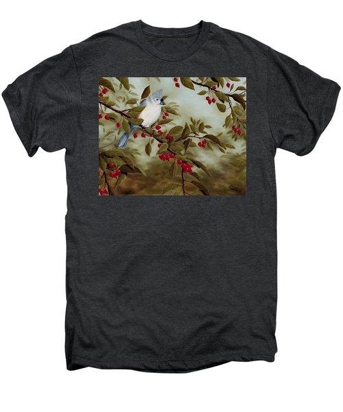 Tufted Titmouse Men's Premium T-Shirt by Rick Bainbridge