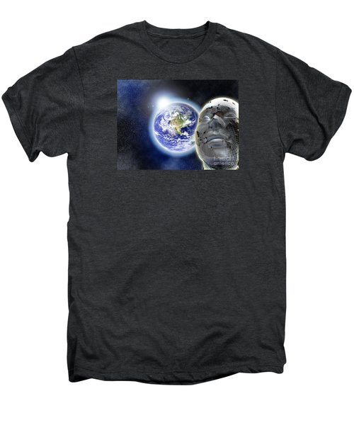Alone In The Universe Men's Premium T-Shirt by Stefano Senise