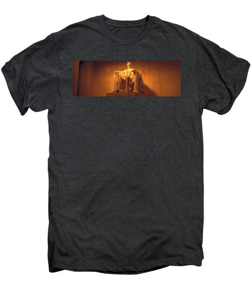 Usa, Washington Dc, Lincoln Memorial Men's Premium T-Shirt by Panoramic Images