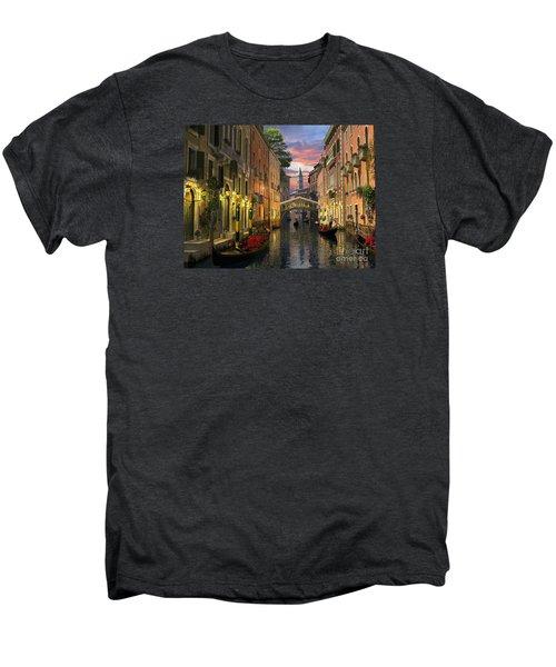 Venice At Dusk Men's Premium T-Shirt by Dominic Davison