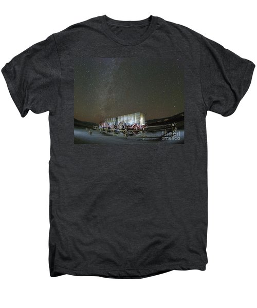 Wagon Train Under Night Sky Men's Premium T-Shirt