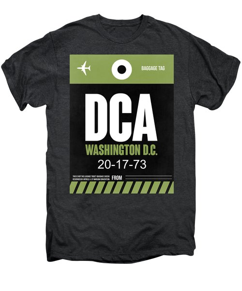 Washington D.c. Airport Poster 2 Men's Premium T-Shirt