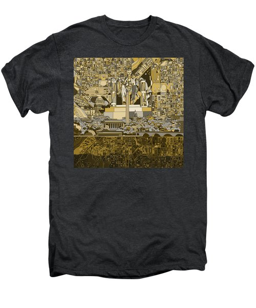 Washington Dc Skyline Abstract 4 Men's Premium T-Shirt