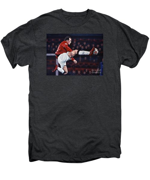 Wayne Rooney Men's Premium T-Shirt by Paul Meijering