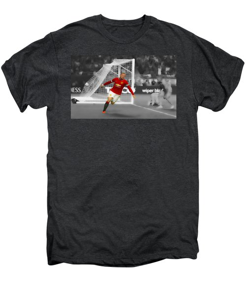 Wayne Rooney Scores Again Men's Premium T-Shirt by Brian Reaves