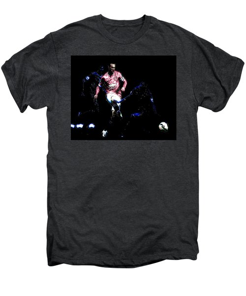 Wayne Rooney Working Magic Men's Premium T-Shirt by Brian Reaves