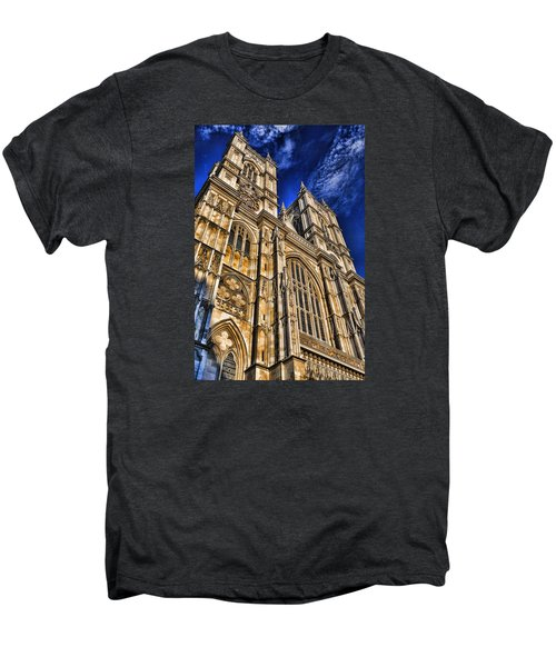 Westminster Abbey West Front Men's Premium T-Shirt by Stephen Stookey