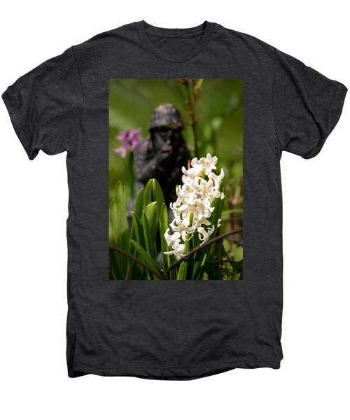 White Hyacinth In The Garden Men's Premium T-Shirt