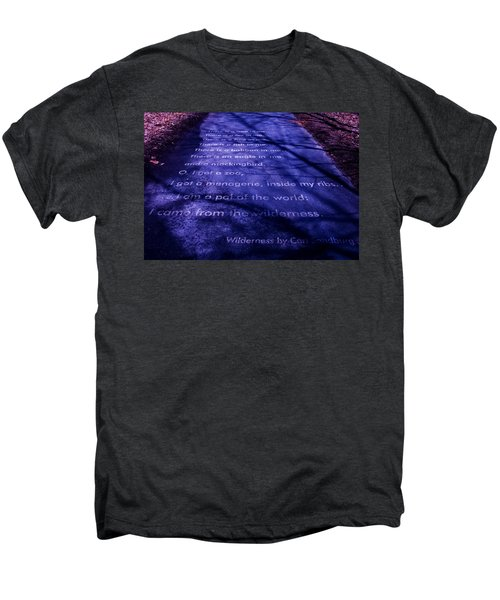 Wilderness - Carl Sandburg Men's Premium T-Shirt