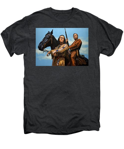 Winnetou And Old Shatterhand Men's Premium T-Shirt