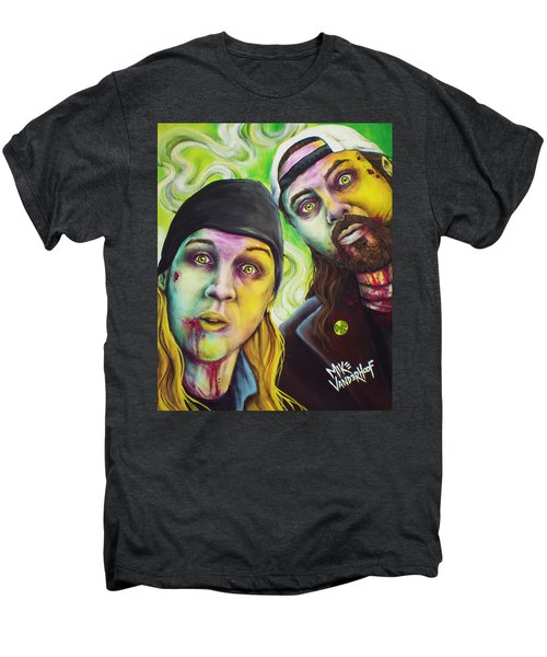 Zombie Jay And Silent Bob Men's Premium T-Shirt by Mike Vanderhoof