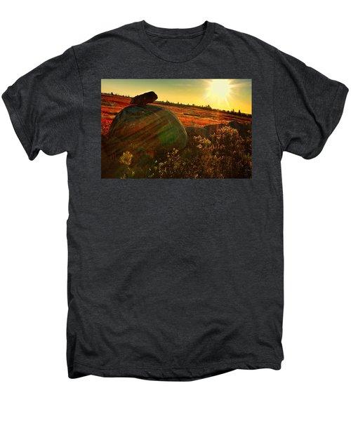 Autumn Morn In The Berry Field Men's Premium T-Shirt