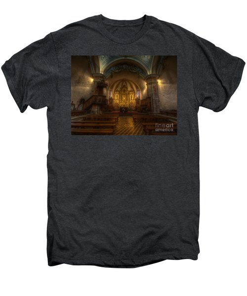 Baroque Church In Savoire France Men's Premium T-Shirt