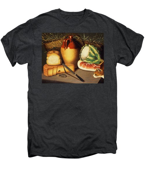 Cat Mouse Bacon And Cheese Men's Premium T-Shirt