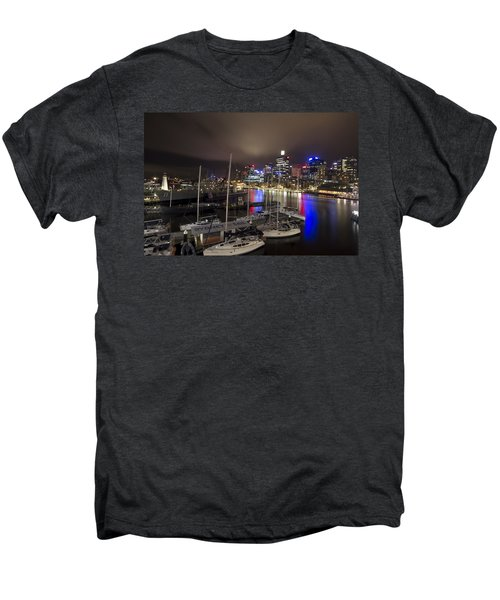 Darling Harbor Sydney Skyline 2 Men's Premium T-Shirt by Douglas Barnard