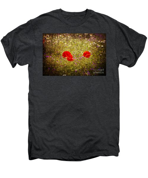 Men's Premium T-Shirt featuring the photograph English Summer Meadow. by Clare Bambers - Bambers Images
