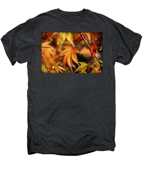 Men's Premium T-Shirt featuring the photograph Golden Fall. by Clare Bambers