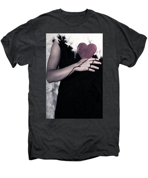 Lady With Blood And Heart Men's Premium T-Shirt