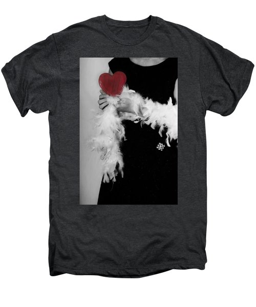 Lady With Heart Men's Premium T-Shirt