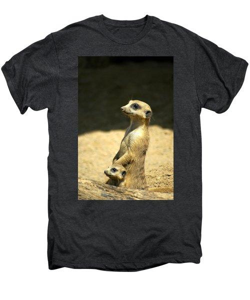 Meerkat Mother And Baby Men's Premium T-Shirt
