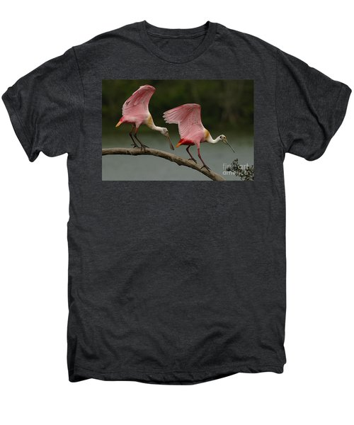 Rosiette Spoonbills Men's Premium T-Shirt by Bob Christopher