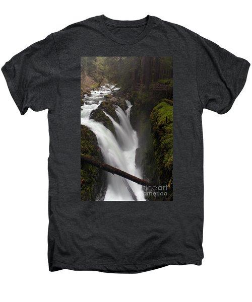 Sol Duc Falls Men's Premium T-Shirt by Mike Reid