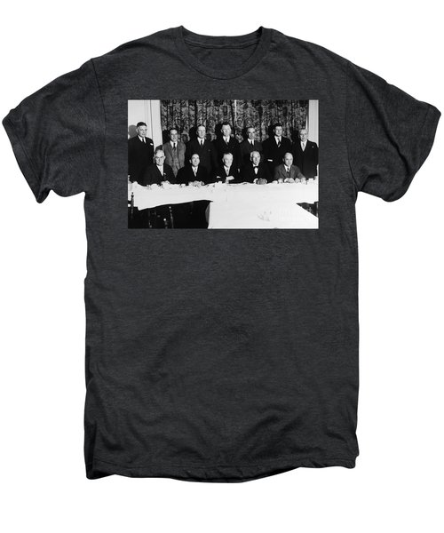Sports Luncheon, 1930 Men's Premium T-Shirt by Granger