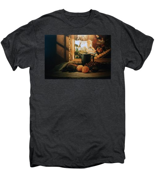 Still Life With Hopper Men's Premium T-Shirt by Patrick Anthony Pierson