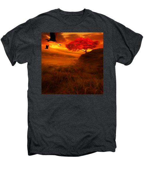 Sunset Duet Men's Premium T-Shirt by Lourry Legarde