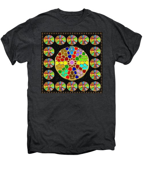 Acrylic Painted Round Colorful Jewel Patterns By Navinjoshi At Fineartamerica.com   Also Available O Men's Premium T-Shirt