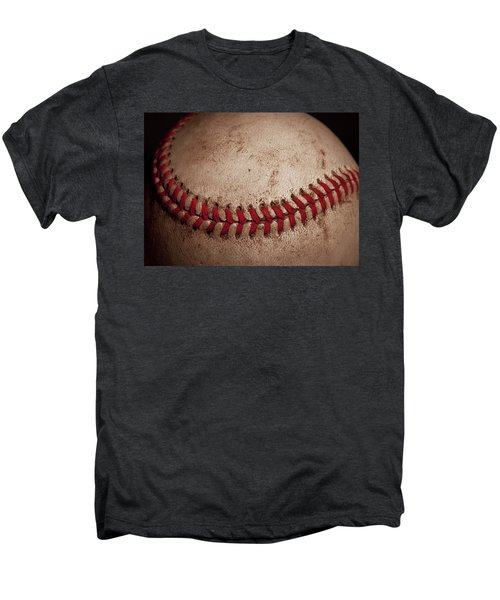 Men's Premium T-Shirt featuring the photograph Baseball Seams by David Patterson