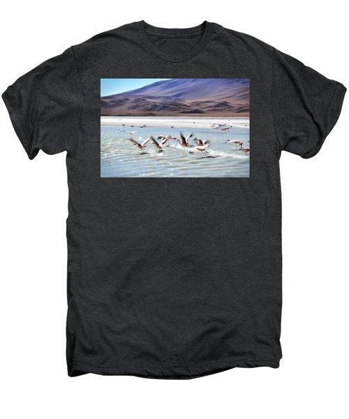 Flying Flamingos Men's Premium T-Shirt