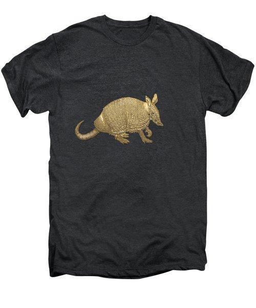 Gold Armadillo On Black Canvas Men's Premium T-Shirt