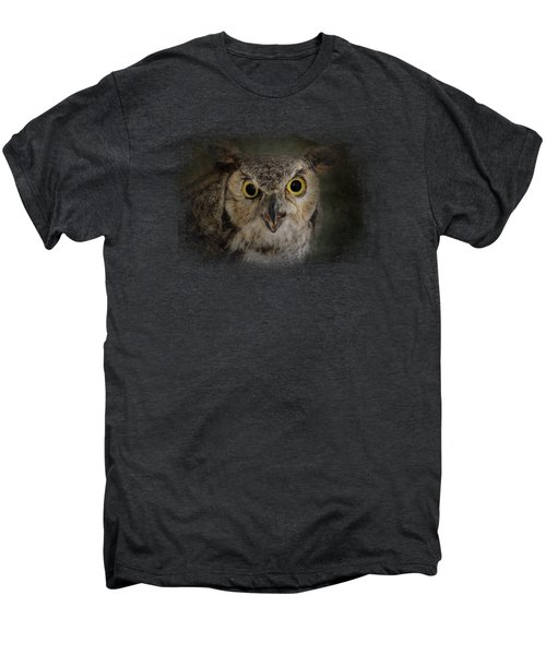 Great Horned Owl Men's Premium T-Shirt by Jai Johnson