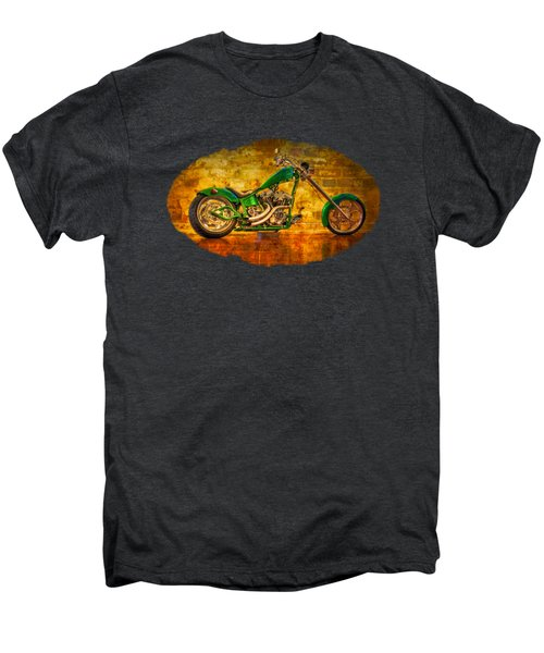 Green Chopper Men's Premium T-Shirt by Debra and Dave Vanderlaan