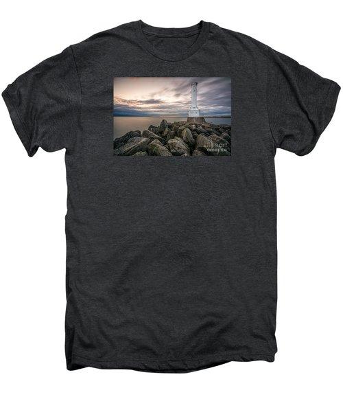 Huron Harbor Lighthouse Men's Premium T-Shirt by James Dean